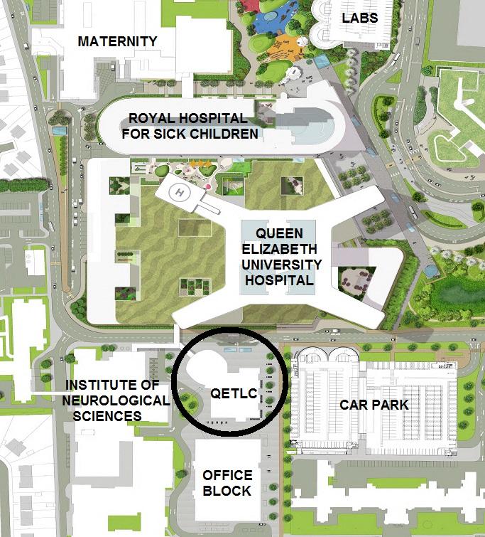 Where Is Neurology Building  Queen Elizabeth University Hospital