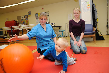 physio with child