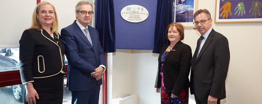 New Glasgow psychological trauma centre treating mental health victims of war, human trafficking and major incidents officially opened