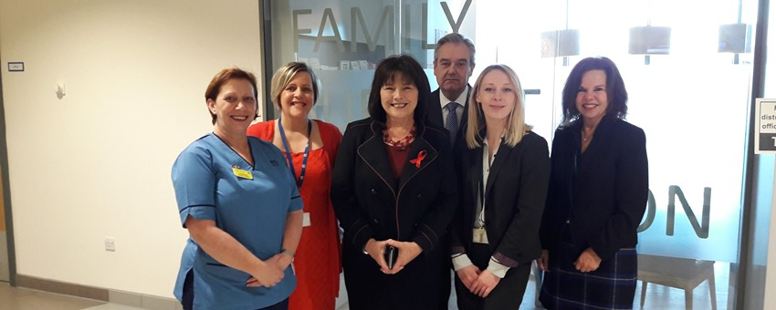 Minister for Social Security visits Royal Hospital for Children service that has secured £5.3 Million in financial support for families