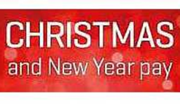 christmas new year pay dates