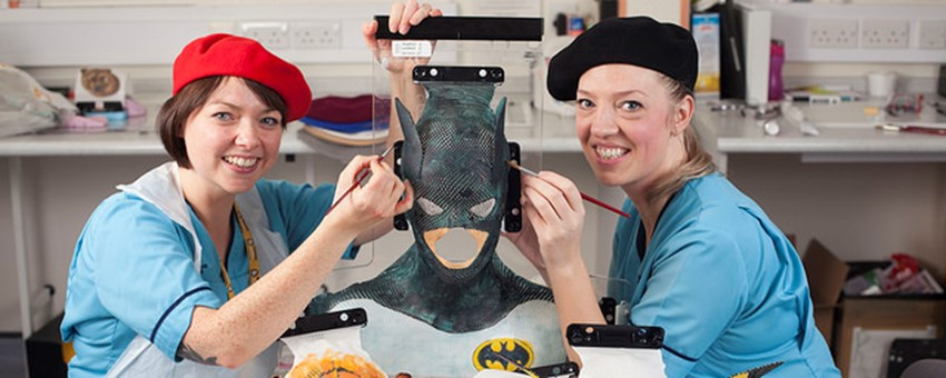 Glasgow Clinical Technologists Transform Worried Children into their Heroes for Radiotherapy Treatment
