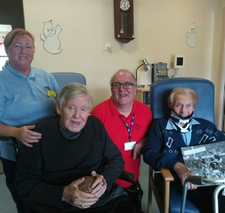 Patients Gets the Chance to Chat About Their Greatest Football Memories