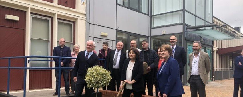 Cabinet Secretary Plants 'Tree for the Future' at the Vale of Leven Hospital