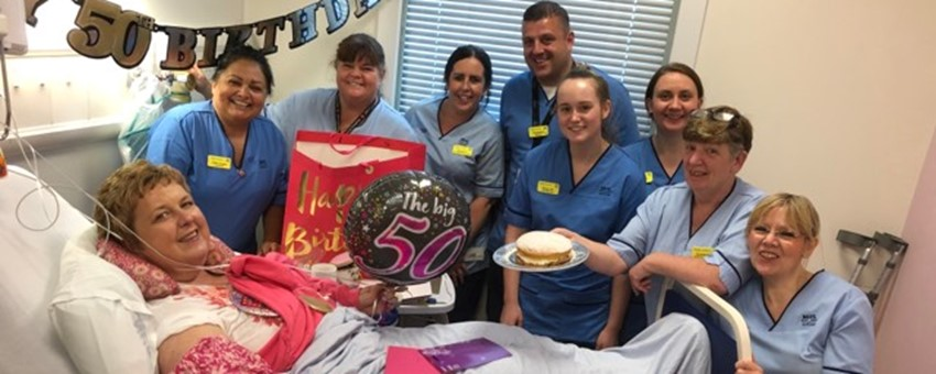 50th birthday surprise for Queen Elizabeth patient