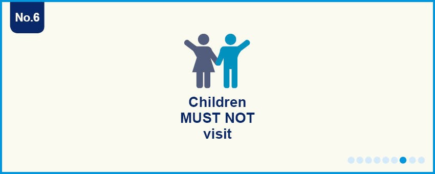 Children can't visit