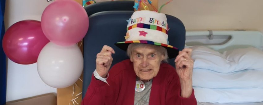 Staff go the extra mile to help Agnes celebrate 90th birthday