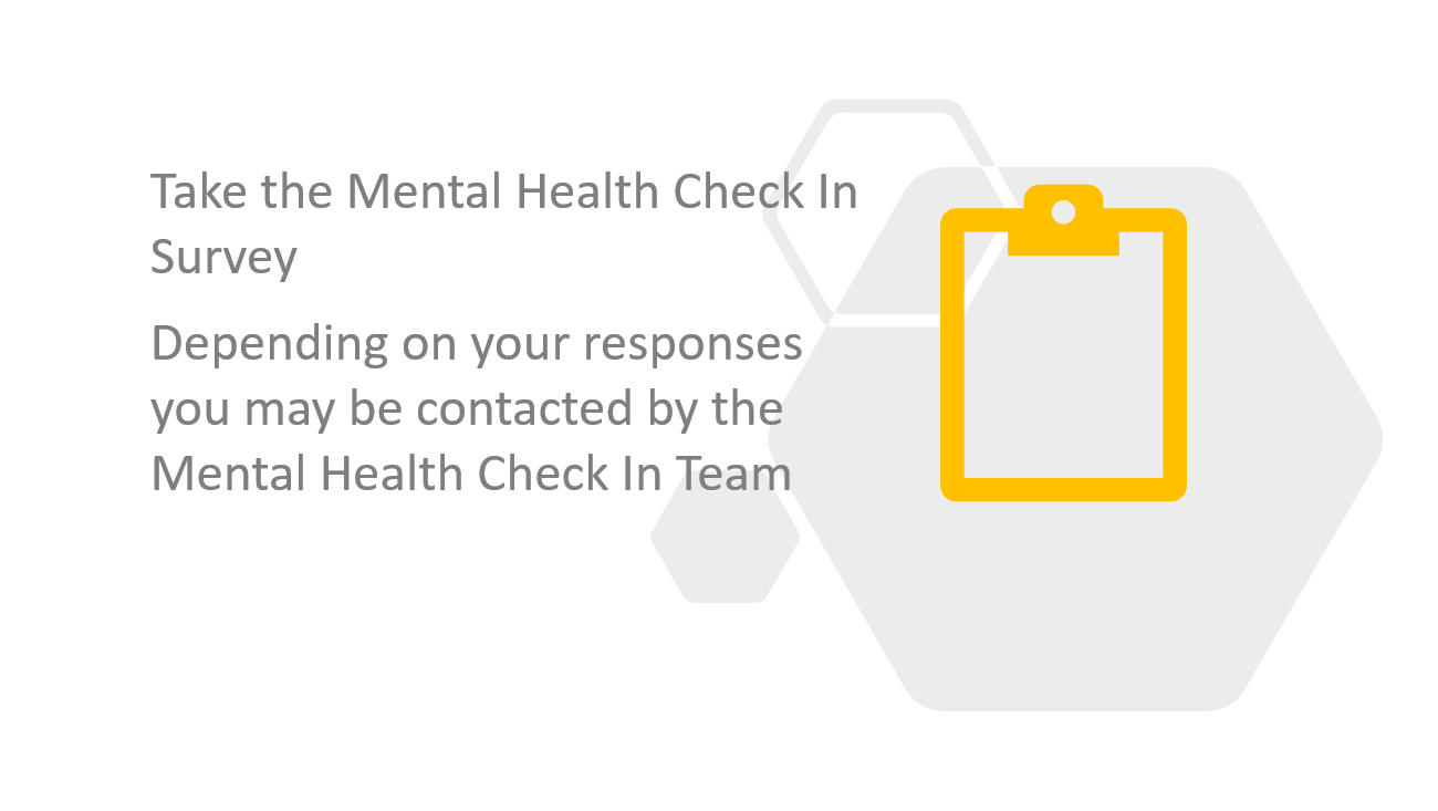 Take the Mental Health Check In Survey