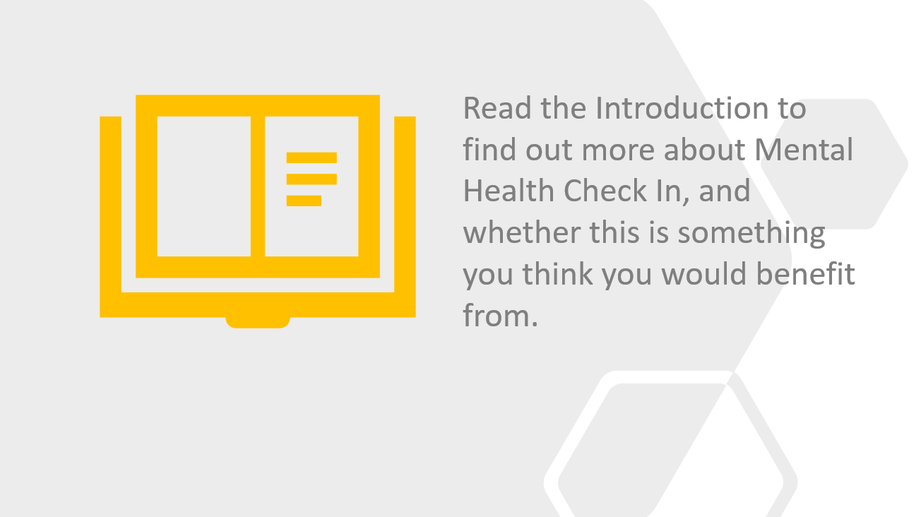 Read about the Mental Health Check In