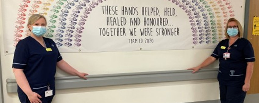 Helping Hands - Hundreds of them : A Powerful Tribute to Staff at NHSGGC Hospital